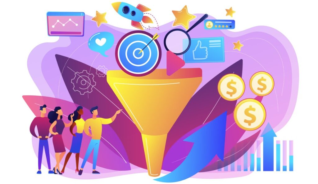 marketing funnel grapic