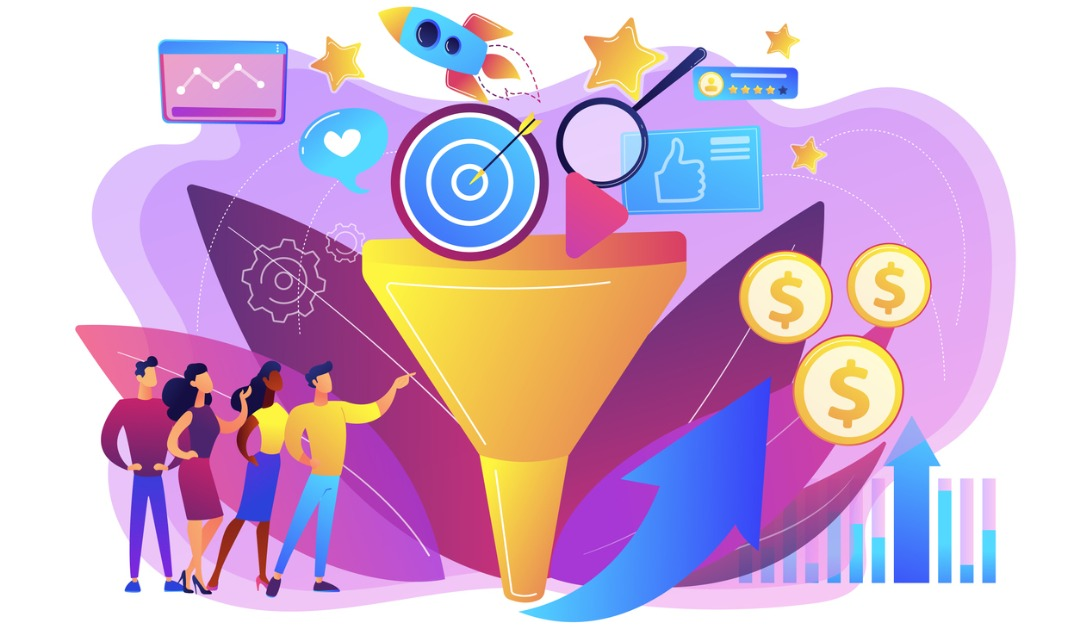 marketing funnel grapic